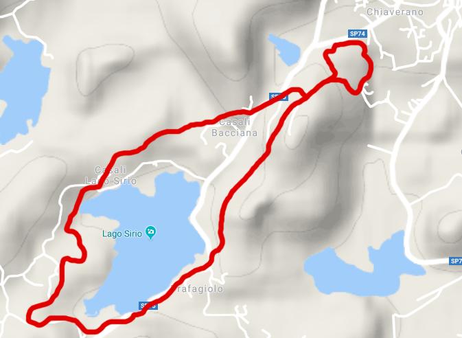 itinerario 3 chiaverano - La Gaja e il Lago Sirio