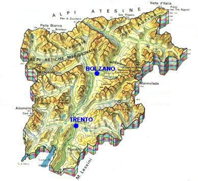 Cartina Dolomiti Italia.Trentino Alto Adige Trentino Alto Adige Informazioni Turistiche Hotel Alberghi Ristoranti